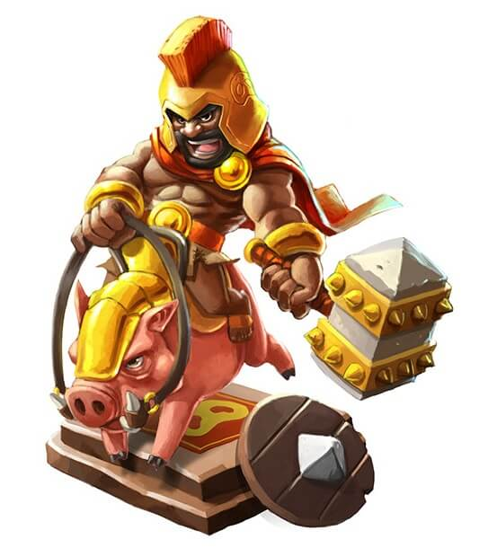 CoC Android game character
